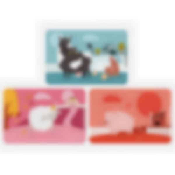 Kit di 3 carte extra per la Ludibox - Porta merenda - Animali Della Fattoria