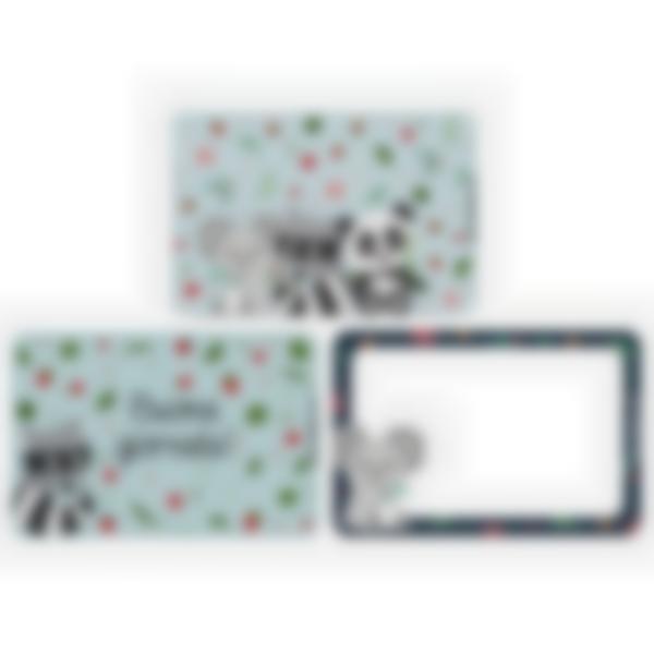 Kit di 3 carte extra per la Ludibox - Porta merenda – Animaletti
