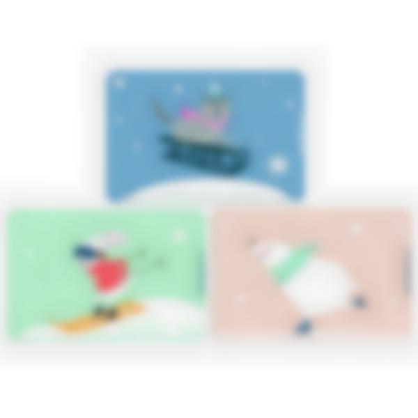 Kit di 3 carte extra per la Ludibox - Porta merenda - Animali On Ice