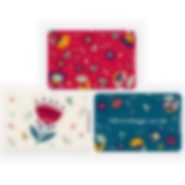 Kit di 3 carte extra per la Ludibox - Porta merenda - Floreale