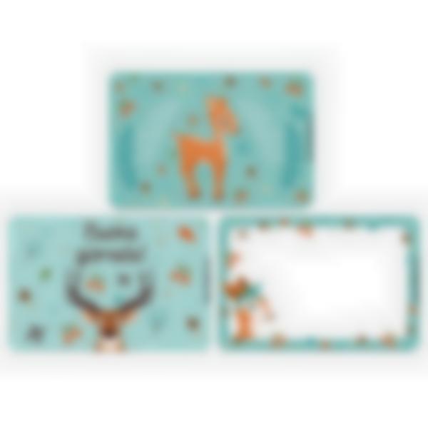 Kit di 3 carte extra per la Ludibox - Porta merenda – Foresta