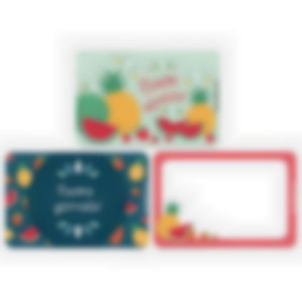 Kit di 3 carte extra per la Ludibox - Porta merenda – Frutta