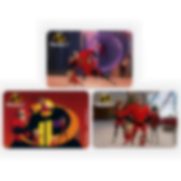 Kit di 3 carte extra per la Ludibox - Porta merenda - Disney Pixar Gli Incredibili 2
