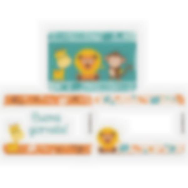 Kit di 3 carte extra per la Ludibox - Porta merenda – Giungla