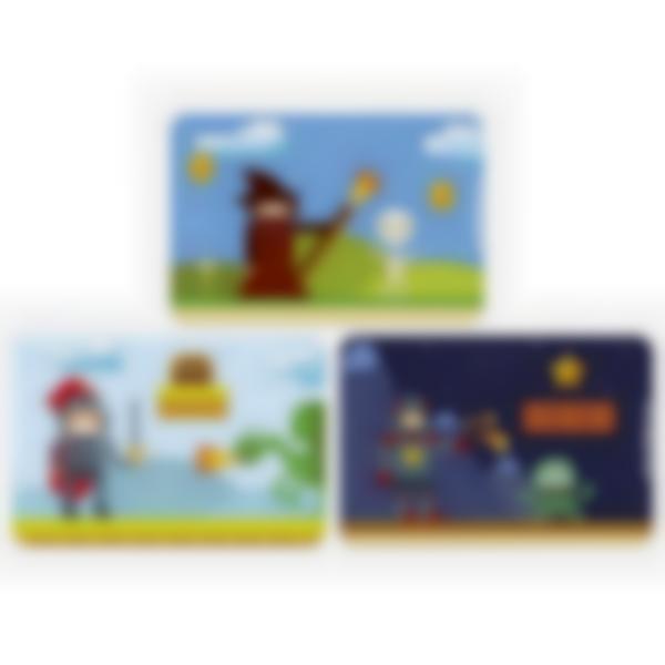 Kit di 3 carte extra per la Ludibox - Porta merenda -Giochi Retro