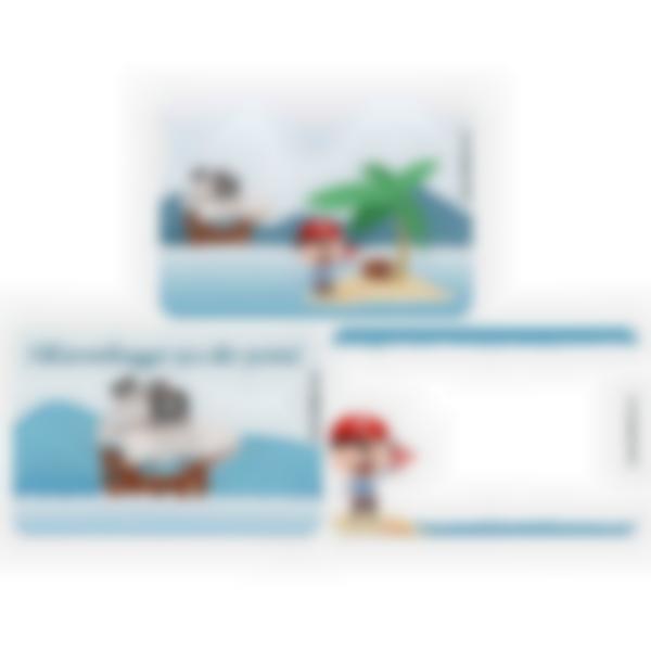 Kit di 3 carte extra per la Ludibox - Porta merenda – Pirata