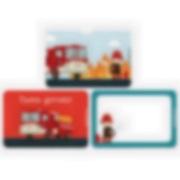 Kit di 3 carte extra per la Ludibox - Porta merenda – Pompieri