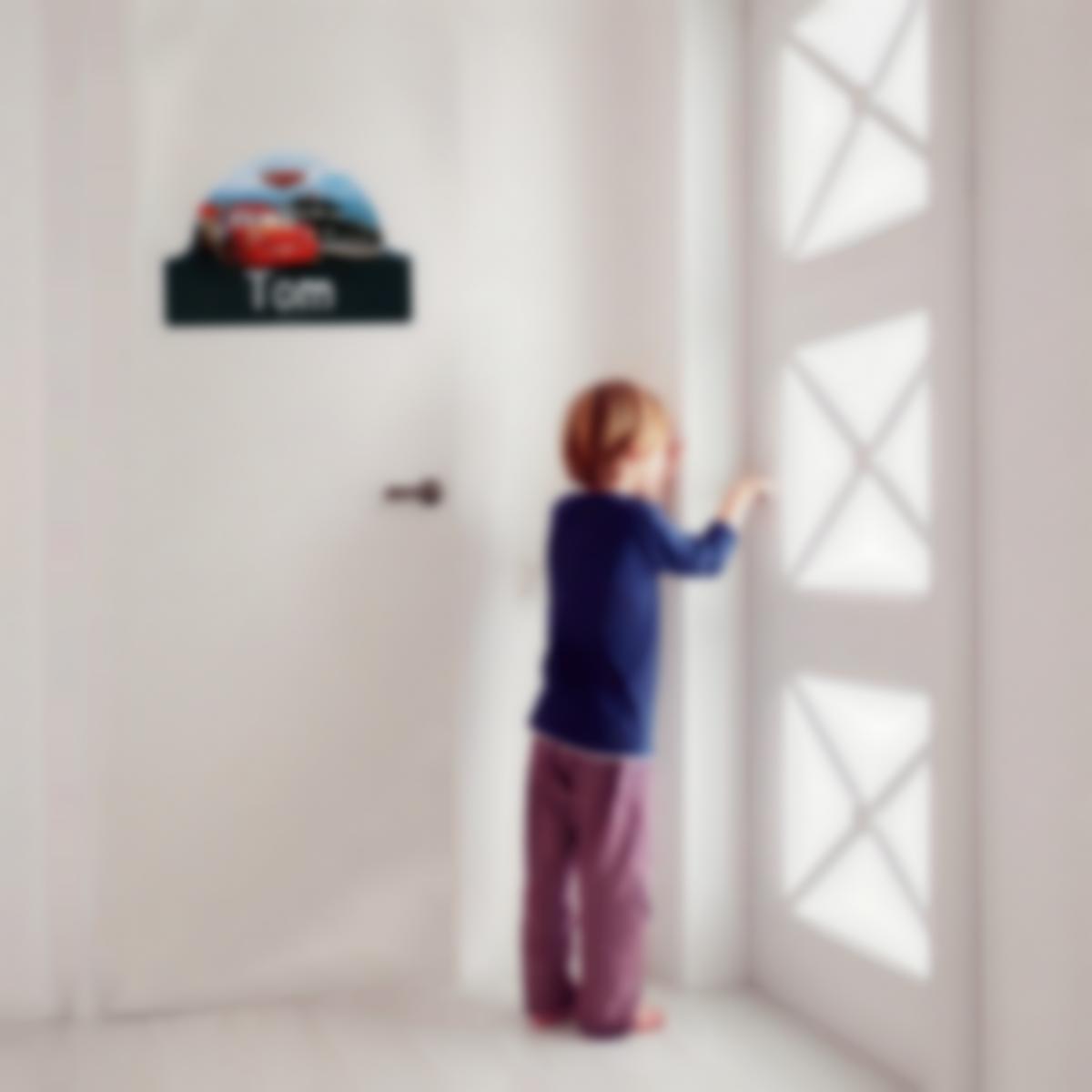 Adesivi porta cameretta personalizzati - Cars 3