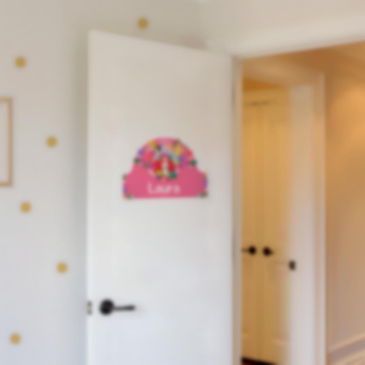 Adesivi porta cameretta personalizzati - Principesse Disney Fiori
