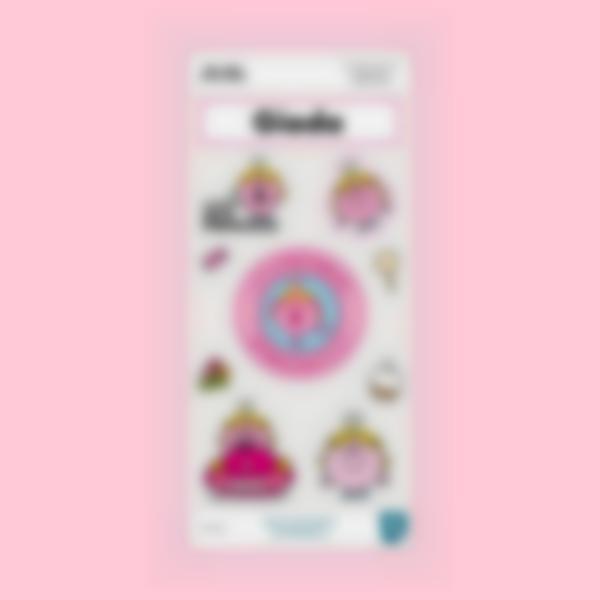 Adesivi decorativi per la Borraccia - Little Miss Princess