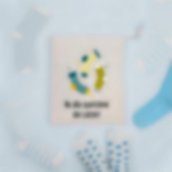 Piccola borsa portaoggetti illustrata e personalizzata
