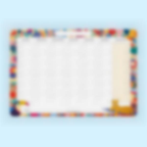 Calendario Mensile scrivibile - Jungle Vibes