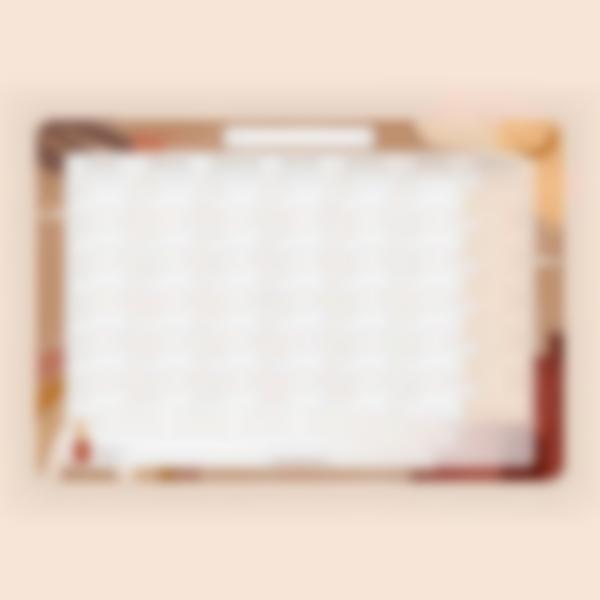 Calendario Mensile scrivibile magnetico - Terracotta