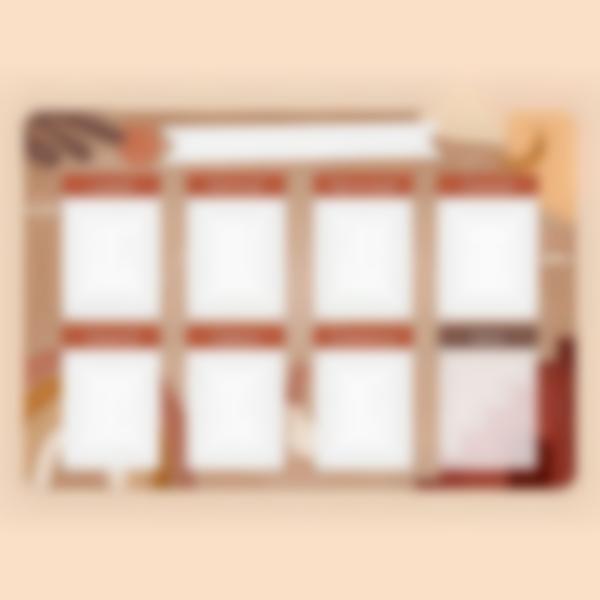 Calendario Menu Settimanale scrivibile magnetico - Terracotta