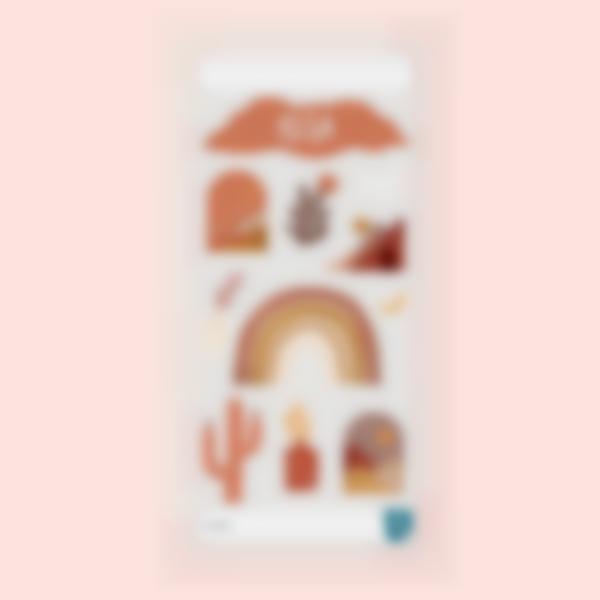 Adesivi decorativi per la Borraccia - Terracotta