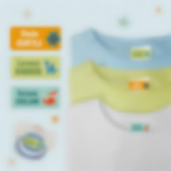 Etichette adesivi Ludisticks per Vestiti - Diversi nomi