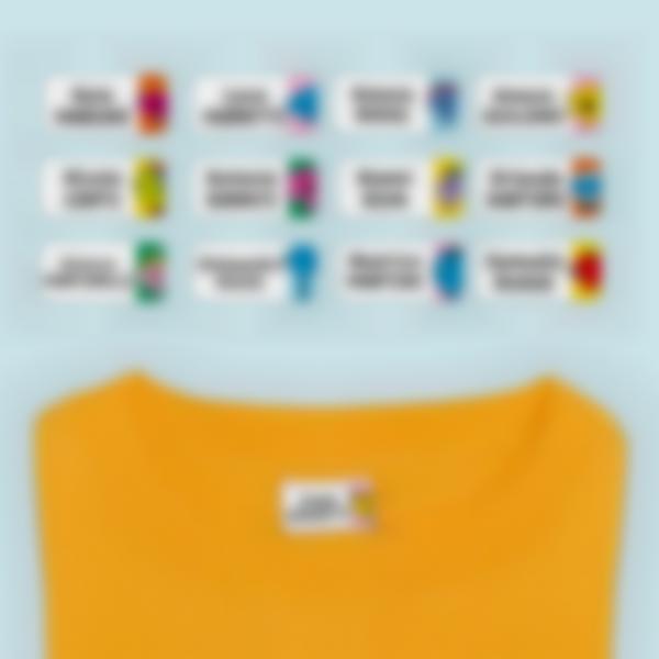 Etichette adesivi Ludisticks per Vestiti - Mister Men Little Miss
