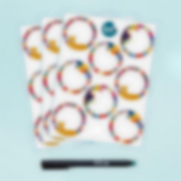 Etichette bianche rotonde scrivibili x 24 - Jungle Vibes