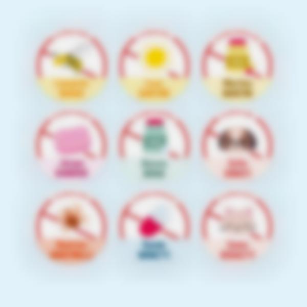 """Etichette adesivi rotondi per oggetti  """"Allergie, Condizioni mediche e Diete"""""""