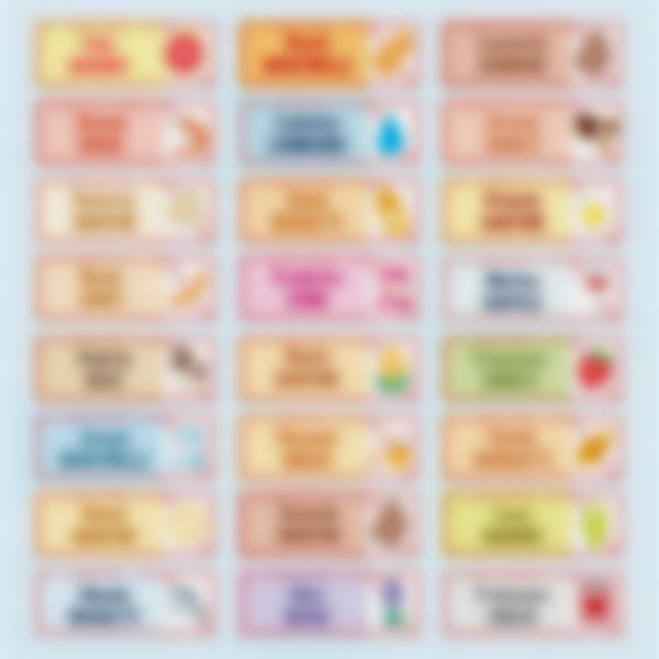 """Etichette adesivi Rettangolari """"Allergie, Condizioni mediche e Diete"""""""