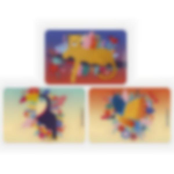 Kit di 3 carte extra per la Ludibox - Porta merenda - Jungle vibes
