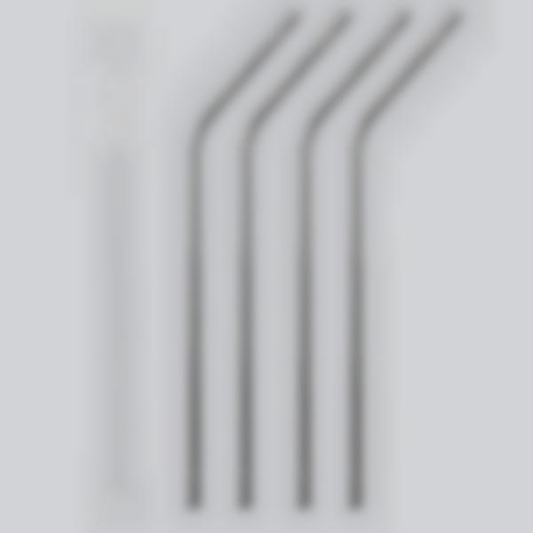 Cannucce riutilizzabili in acciaio inox - set 4