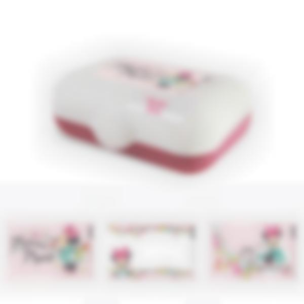 Ludibox - Porta merenda personalizzato rosa – Minnie Disney