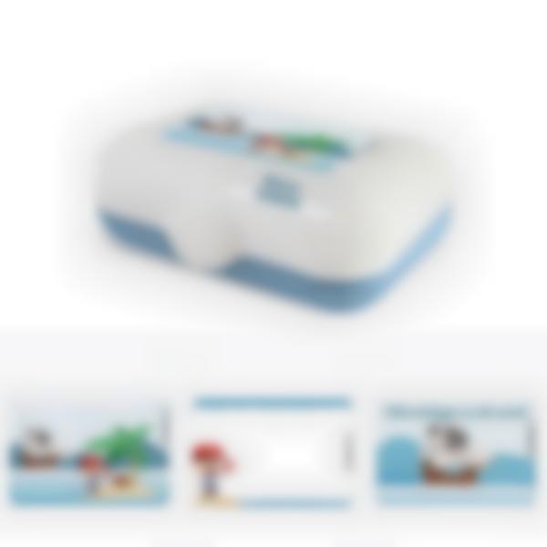 Ludibox - Porta merenda personalizzato blu – Pirata
