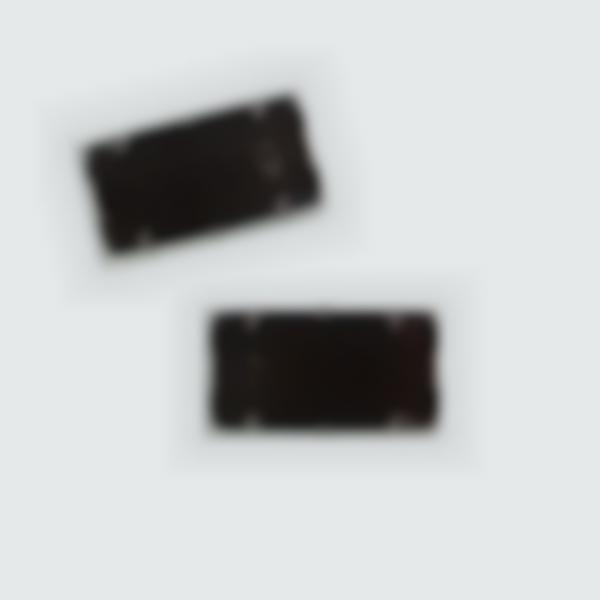 2 cartucce d'inchiostro nero per ricaricare il timbro