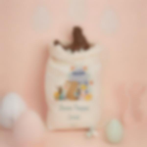 Sacchetto di tessuto per la caccia all'uovo di Pasqua