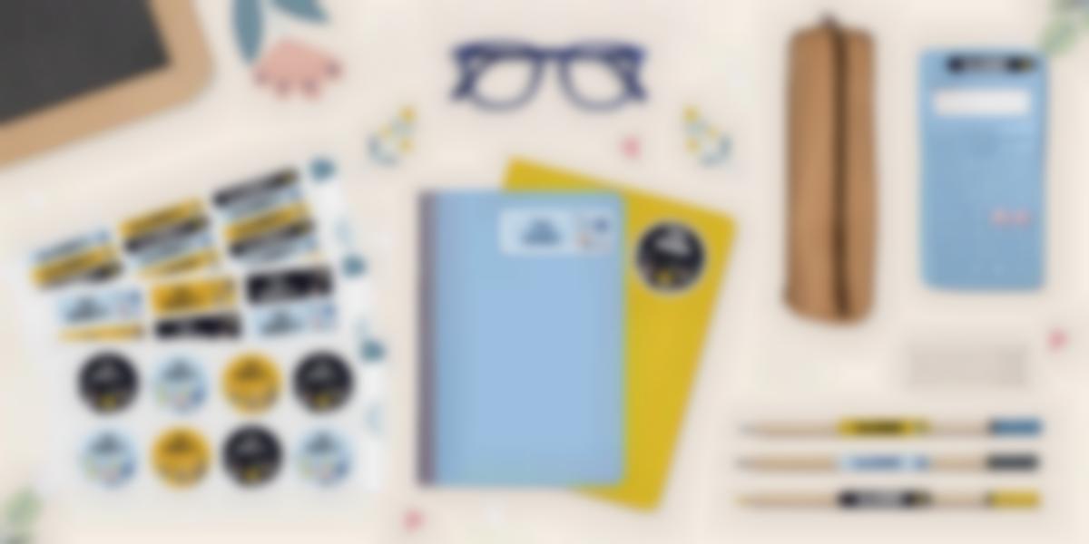 Etichette nome per identificare il materiale scolastico dei bambini