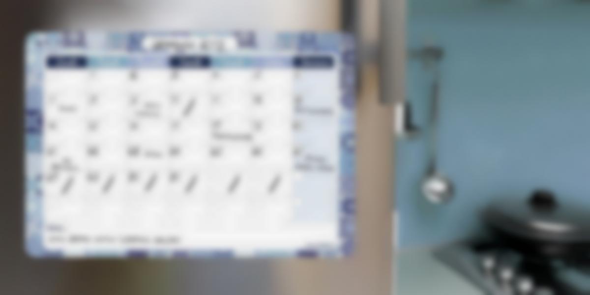 Calendario mensile magnetico e scrivibile
