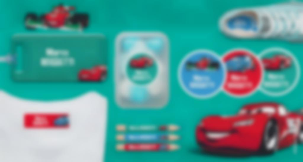 Le etichette personalizzate di Cars