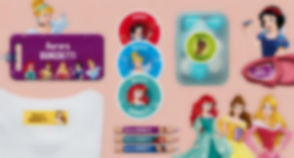 Tutti i nostri formati di etichette con le Principesse Disney
