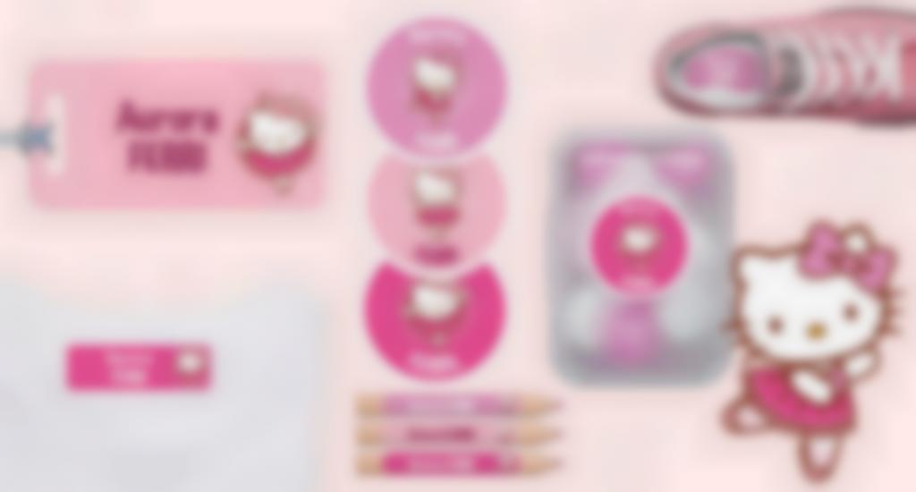 Tutti i nostri formati di etichette con Hello Kitty