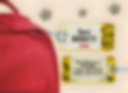 Etichette bagagli con l'indirizzo Little Miss Mister Men