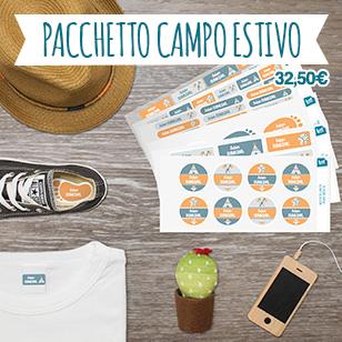 Pacchetto risparmio che contiene tutti i formati per etichettare vestiti e oggetti personali.