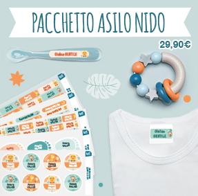 Etichette nome per l'asilo da stirare per i vestiti dei bambini e etichette adesive per contrassegnare gli oggetti all'asilo come biberon, pupazzi…