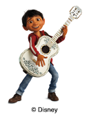 illustrazione Disney Coco per le etichette nominative